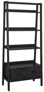 Johnson Bookcase, Charcoal Black