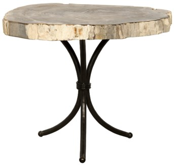 Accent Table with Petrified Top