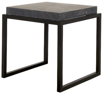 Side Table with Black Marble Top