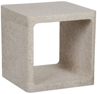 Cubo Side Table, White Marble