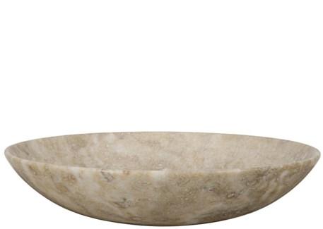 Round Tray, White Marble