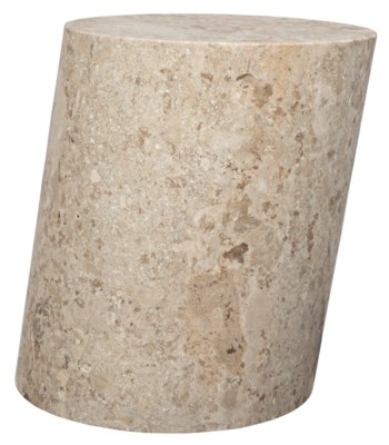 Cliff Stool, Large, White Marble