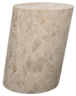 Cliff Stool, Small, White Marble