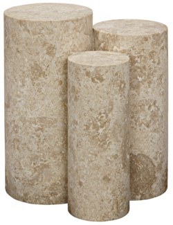 Ambrose Side Table, White Marble