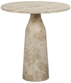 Lorenzo Side Table, White Marble