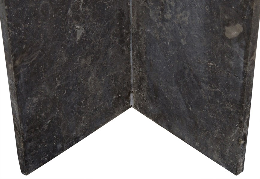 Anvil Console, Black Marble and White Marble