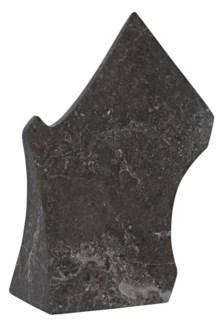 Axe Sculpture, Black Marble
