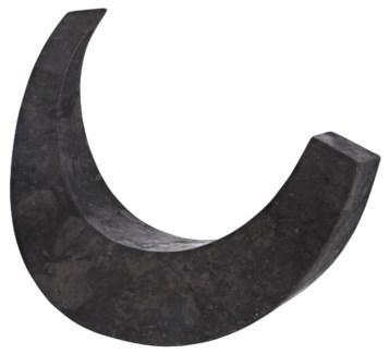 Wedge Sculpture, Black Marble