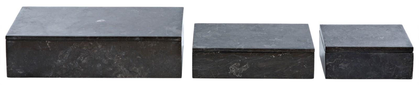 Pandora 3 pc. Set, Black Marble