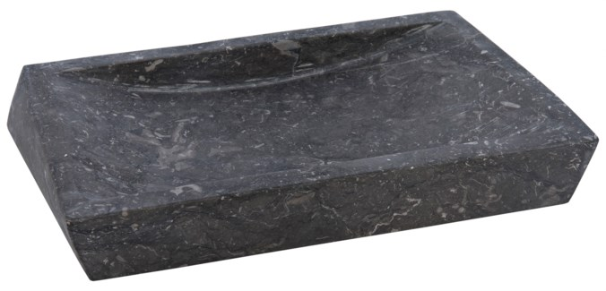 Template Soap Dish, Black Marble