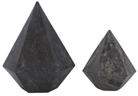 Pentagonal 2 pc. Set, Black Marble