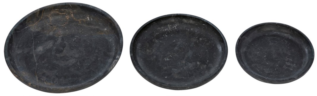 Haha Tray 3 pc. Set, Black Marble