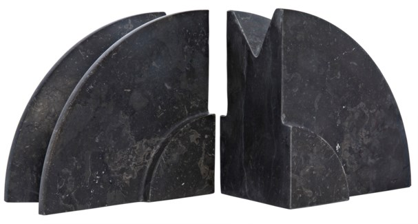 Pully Bookend, Black Marble