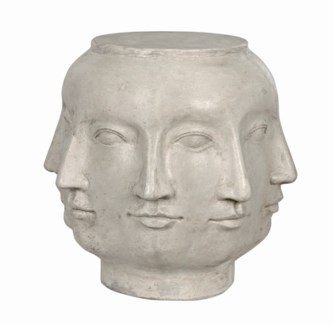 Multi-Face Stool, Fiber Cement