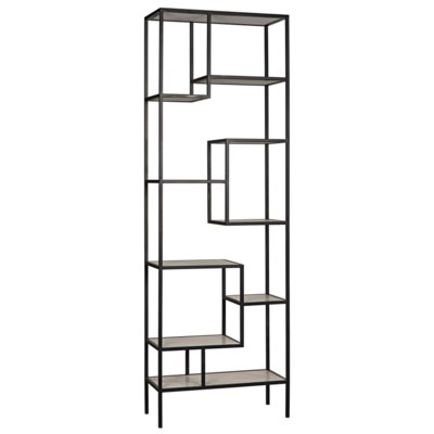 Haru Bookcase, XL, Metal and Quartz