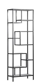Haru Bookcase, Large, Metal and Quartz