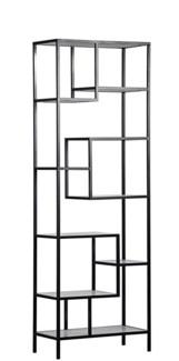 Haru Bookcase, Large, Metal and Quartz