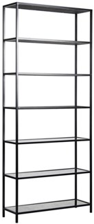 Zhao Bookcase, Metal and Antiqued Mirror