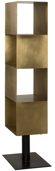 Tara Shelving, Antique Brass Finish