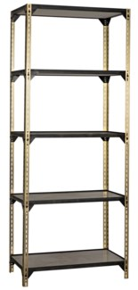 Dario Bookcase, Antique Brass Finish