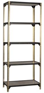 Dario Bookcase, Antique Brass Finish