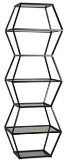 Priam Shelf, Metal and Glass