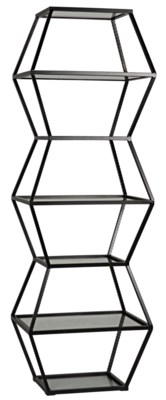 Priam Shelf, Metal and Glass