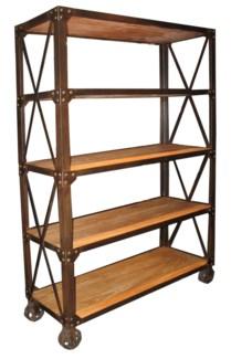 802 Bookshelf with Wheels