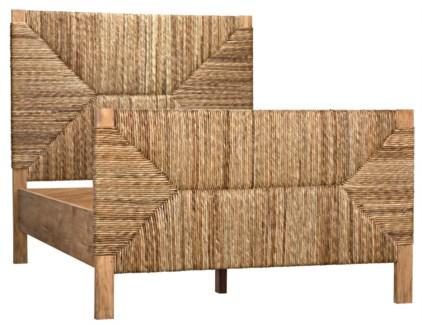 QS Holden Bed, Full, Teak w/Seagrass