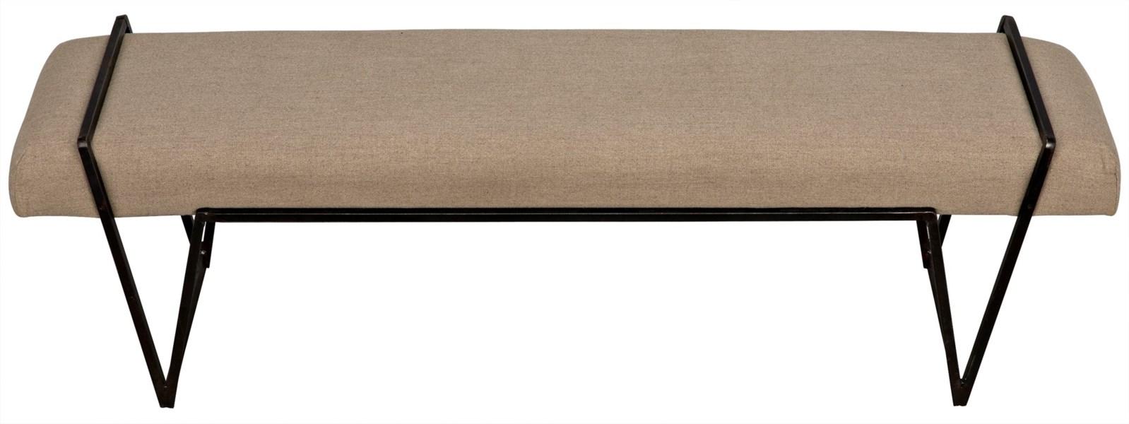 Larkin Bench, Metal with Linen