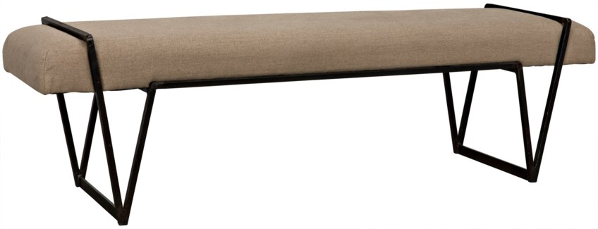 Larkin Bench, Metal w/Linen