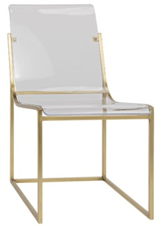 Pascoe Chair, Antique Brass