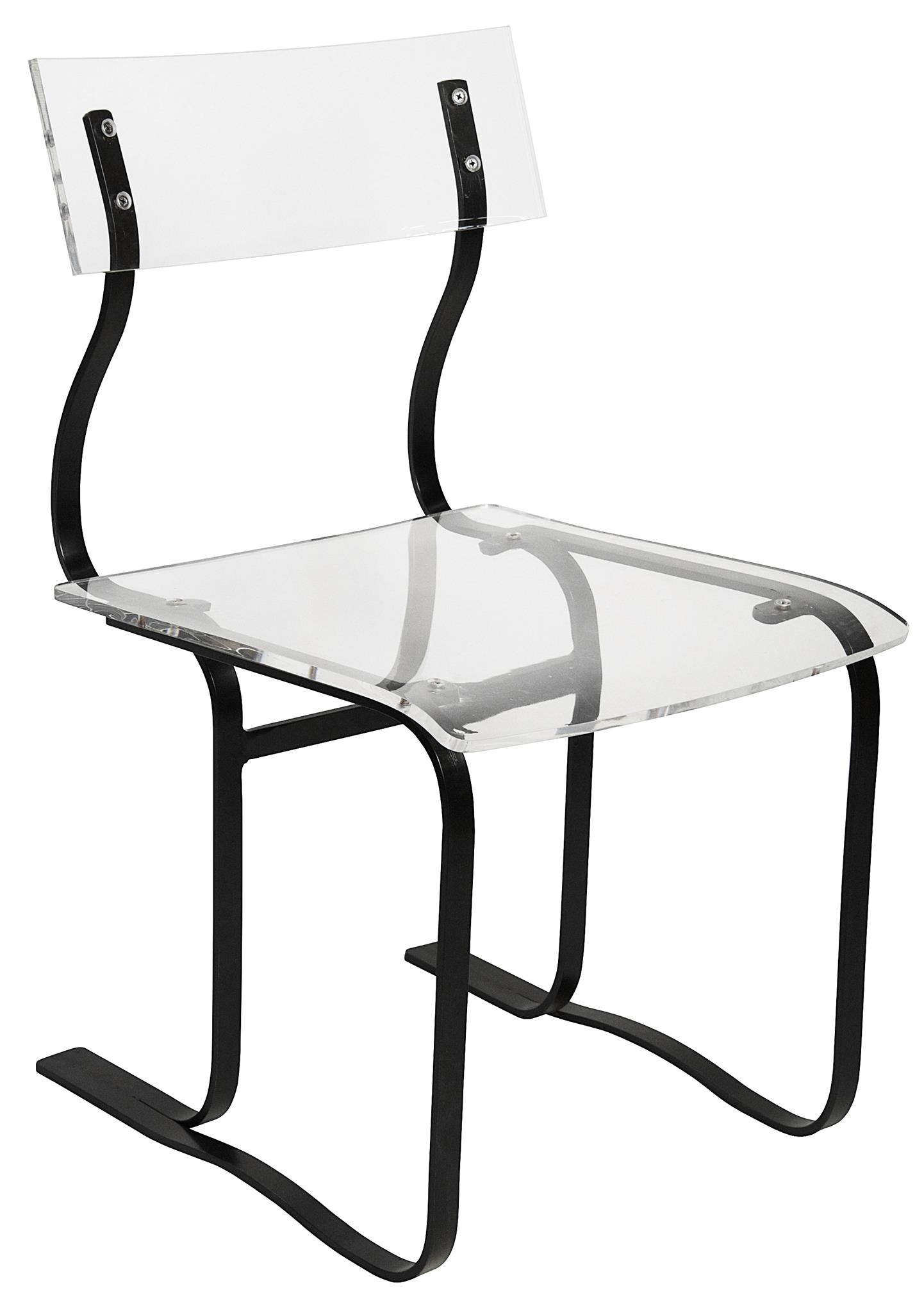 Riva Chair Acrylic and Metal dining chairs noir