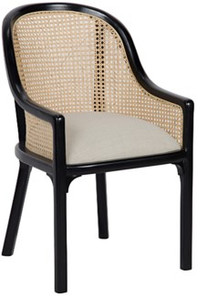 Gaston Chair, Hand Rubbed Black