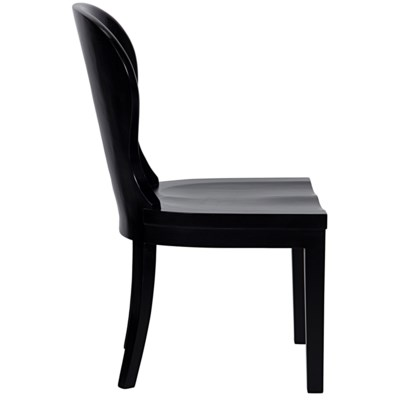 Cort Chair, Hand Rubbed Black