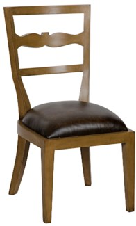 Constantine Side Chair, Saddle Brown