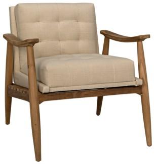 Lazaros Chair, Teak w/Off White Canvas