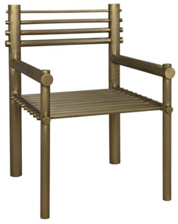 Berlin Chair, Metal w/Brass Finish