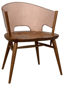 Corado Chair, Teak & Leather