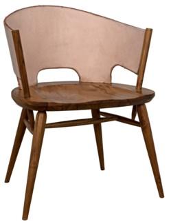 Corado Chair, Teak & Leather