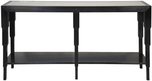 Arta Console, Distressed Black