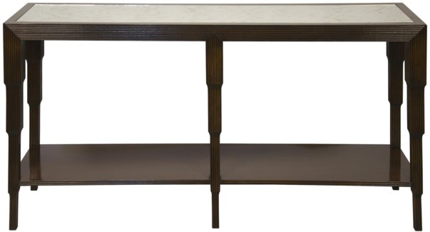 Arta Console, Distressed Brown