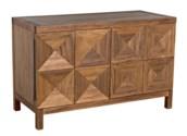 QS Quadrant 2 Door Sideboard, Dark Walnut
