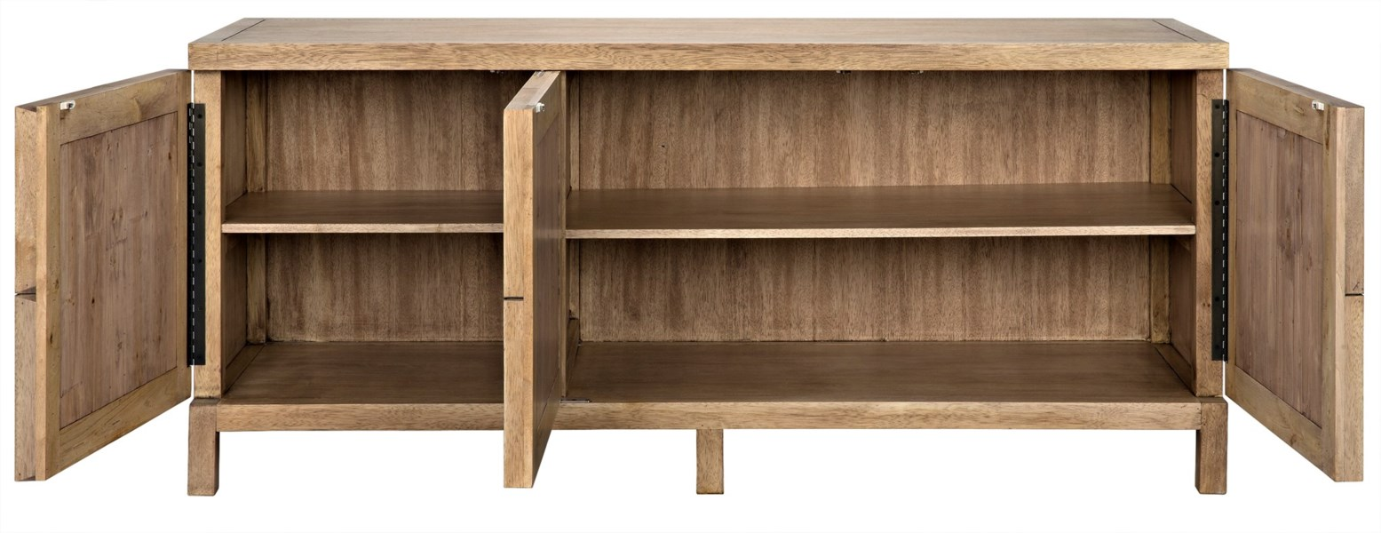 3 Door Quadrant Sideboard, Washed Walnut