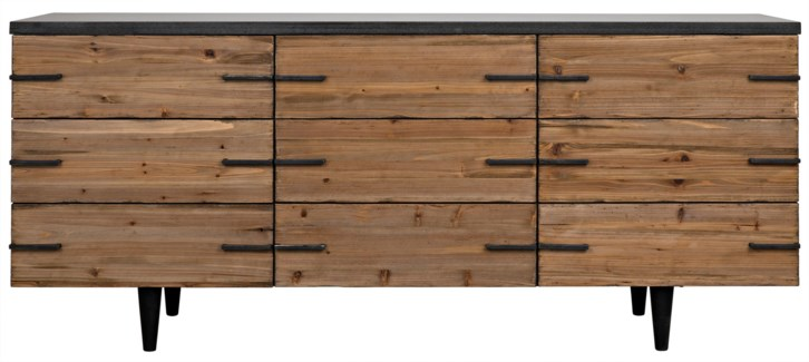 Sullivan Sideboard, Old Elm and Stone