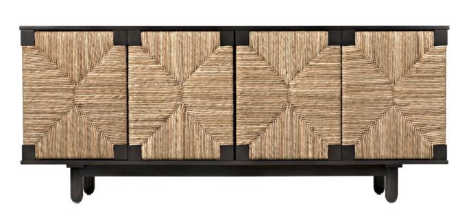 QS Brook 4 Door Sideboard, Pale