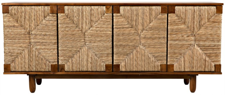 Brook 4 Door Sideboard, Teak