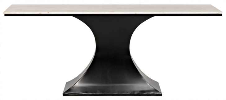 Curtise Console, Metal and Quartz
