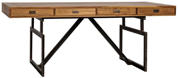 Maxwell Desk Teak w/Metal Base