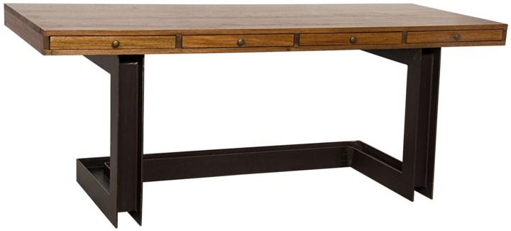 Leo Desk, Metal and Walnut